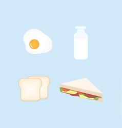 Breakfast Design Set vector image
