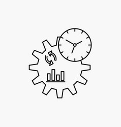 business engineering management process line icon vector image