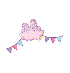 Candy cloud and pennants vector