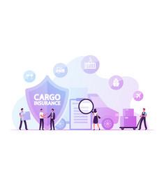 Cargo insurance guaranty delivery concept vector