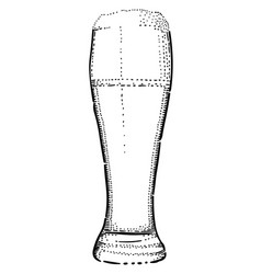 cartoon image of beer icon beer glass symbol vector image