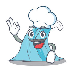 Chef waves of water graphic character vector