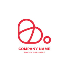 Creative b letter heart logo icon design template vector