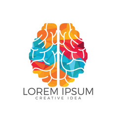 creative brain logo design vector image
