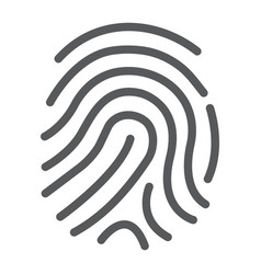 cryptographic signature line icon security vector image