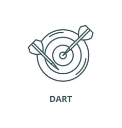 dart line icon linear concept outline vector image