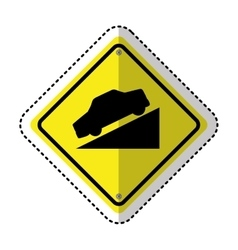 decline traffic signal information icon vector image