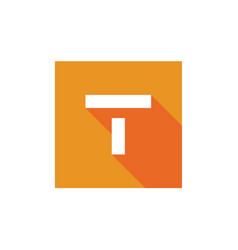 Digital letter t logo alphabet t icon design vector