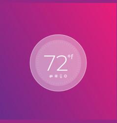 Digital smart thermostat vector