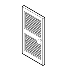 Door with horizontal vent icon outline style vector