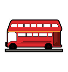 double decker bus london icon image vector image