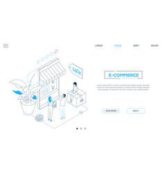 E-commerce - line design style isometric web vector