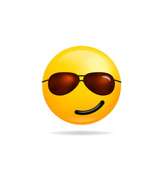 Emoji smile icon symbol smiley face with vector
