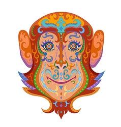 Ethnic ornamented monkey vector image