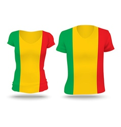 Flag shirt design of Mali vector image