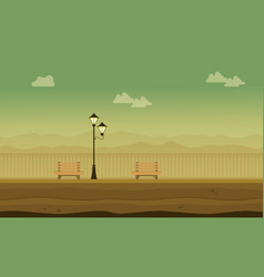Flat of garden scenery for background game vector