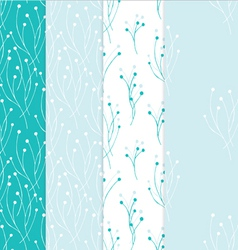 Four seamless background in light blue colors vector image