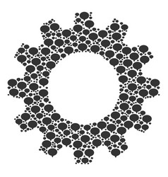 Gear wheel composition hint icons vector