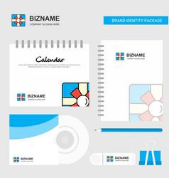 giftbox logo calendar template cd cover diary and vector image