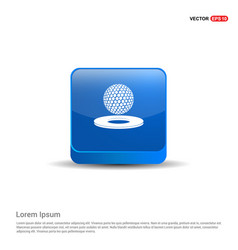 golf design icon - 3d blue button vector image