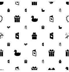 greeting icons pattern seamless white background vector image
