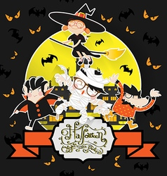 Halloween ghost night patry vector