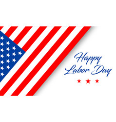 happy labor day banner with text and flag isolated vector image