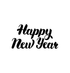 Happy new year handwritten lettering vector