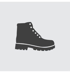 Hiking boots icon vector