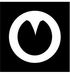 Horse footprint icon design vector