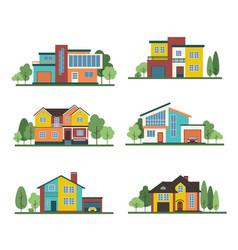 house-set-mod61 vector image
