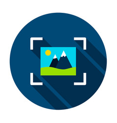 Image recognition circle icon vector