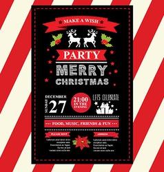 Invitation Merry Christmas vector image