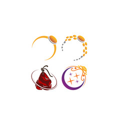 Jewelery ring template set vector