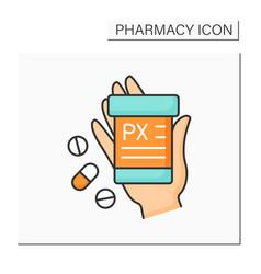 Label color icon vector
