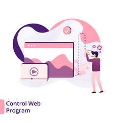 Landing page control web program modern vector