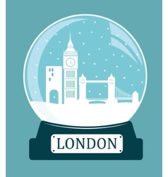 London christmas glass ball vector image