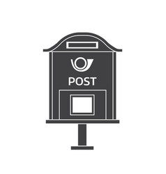 Mail letter box outline icon vector