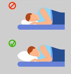 Man info sleep position banner vertical flat vector