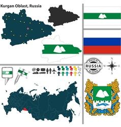 Map of Oblast of Kurgan vector