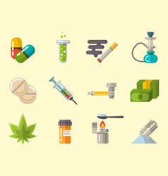 medical drugs icon laboratory science vector image
