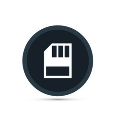 memory card icon simple vector image
