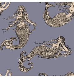 mermaid seamless 1 380 vector image vector image