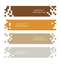 mosaic web template vector image
