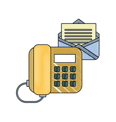 office telephone email letter correspondence vector image