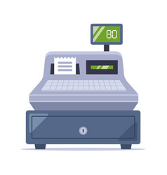 old cash register from store vector image