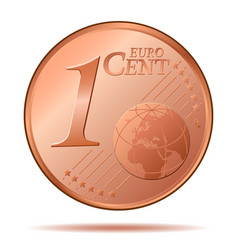 one euro cent 1 vector image