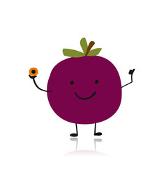 passion fruit cute character for your design vector image