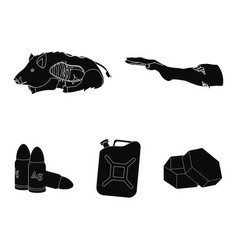 Rotten flesh boar and other web icon in black vector