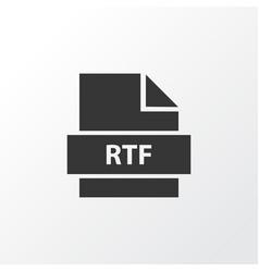 rtf icon symbol premium quality isolated document vector image